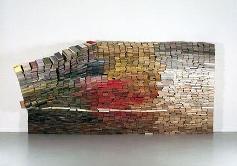 collapse: Colour, Books Sculpture, Artists, Books Art, Bookart, 4000 Books, Color, Anoukkruithof, Anouk Kruithof