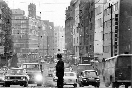 Hämeentie maaliskuussa 1970.