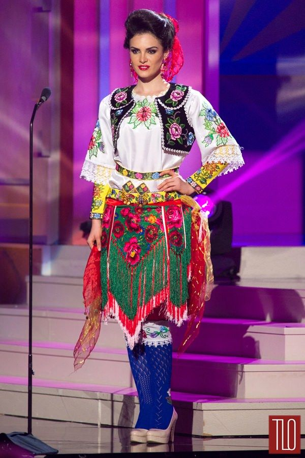 63rd Miss Universe National Costume Show: Miss Albania updates the look with a Buffalo Girl vibe