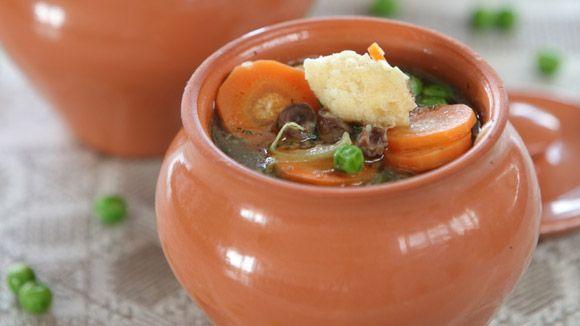 Суп по-восточному из куриных сердечек