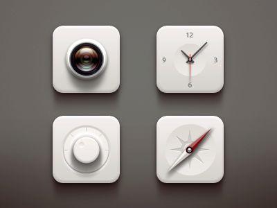 White icons   via Paco on dribbble
