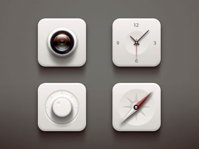 White icons   via Paco on dribbble