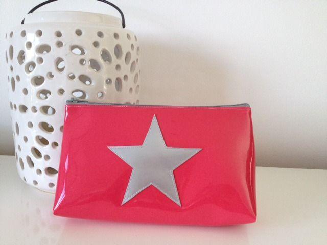 Trousse vinyle étoile Corail pailleté/Argent : Trousses par jomunini