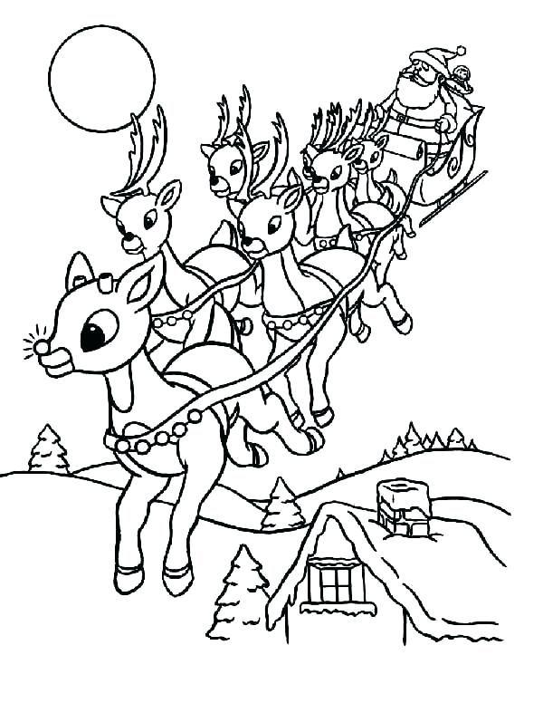 Santa Sleigh Coloring Page Sleigh Coloring Page Riding On Eve Free Printable Sheets Sleigh Colorin Raskraski Dlya Pechati Raskraski S Zhivotnymi Detskie Raskraski