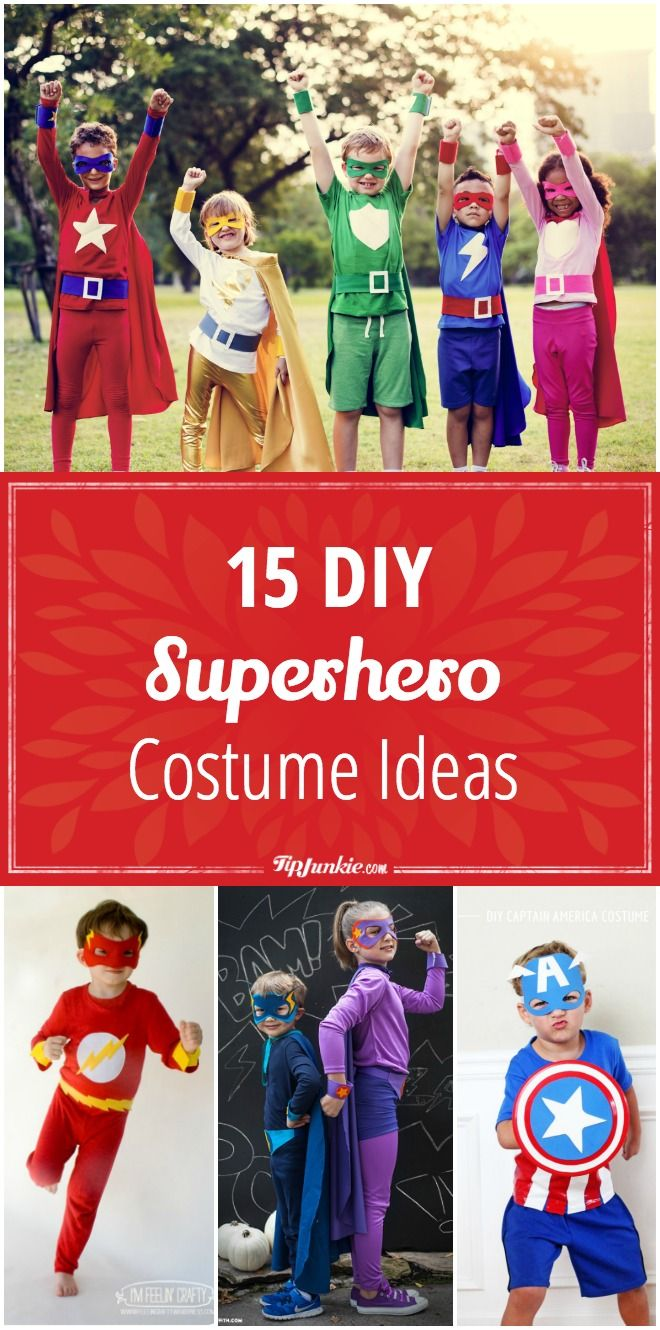 15 DIY superhero costume ideas your kids will love! Fun for boys and girls! via @tipjunkie
