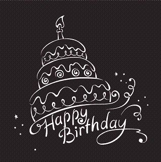 Happy Birthday Wishes png | Birthday Black White | Bottle Greetings #compartirvideos.es #happy-birthday