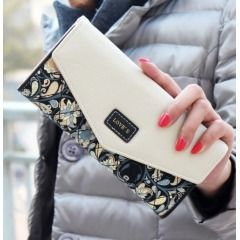 Womens Long Clutch Wallet with Paisley design - 2016 Fashion Item