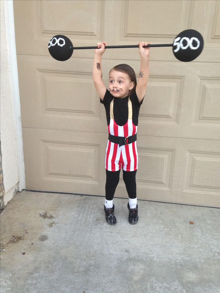 Strong man Halloween costume circus weightlifter