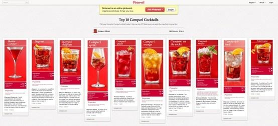 Campari Pinterest - top fan cocktails.