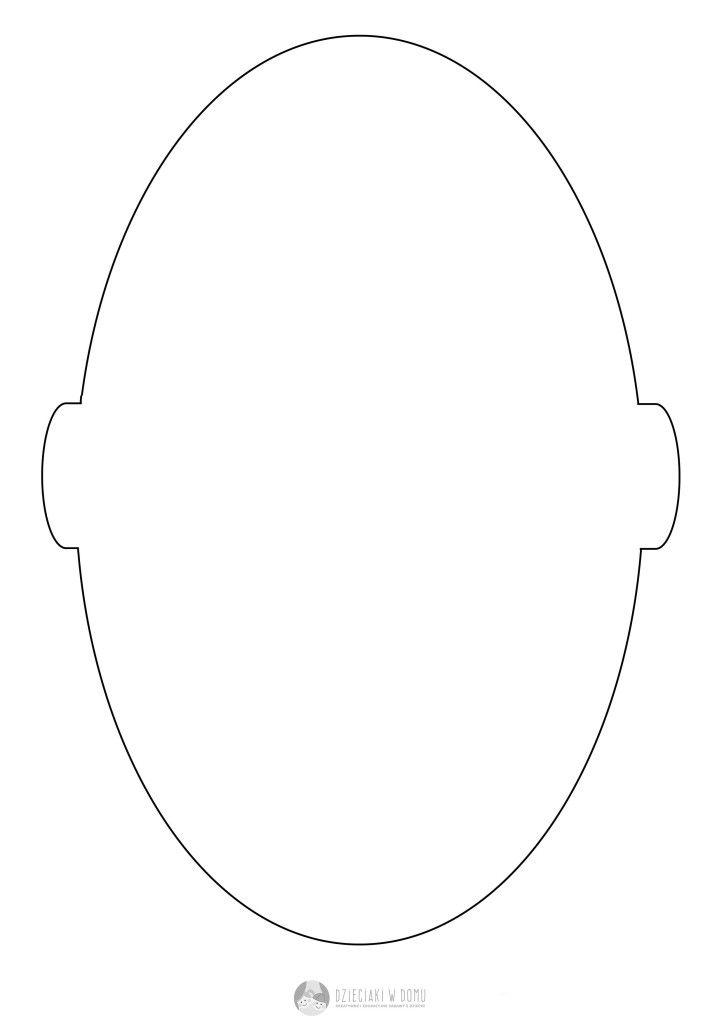 twarz - szablon