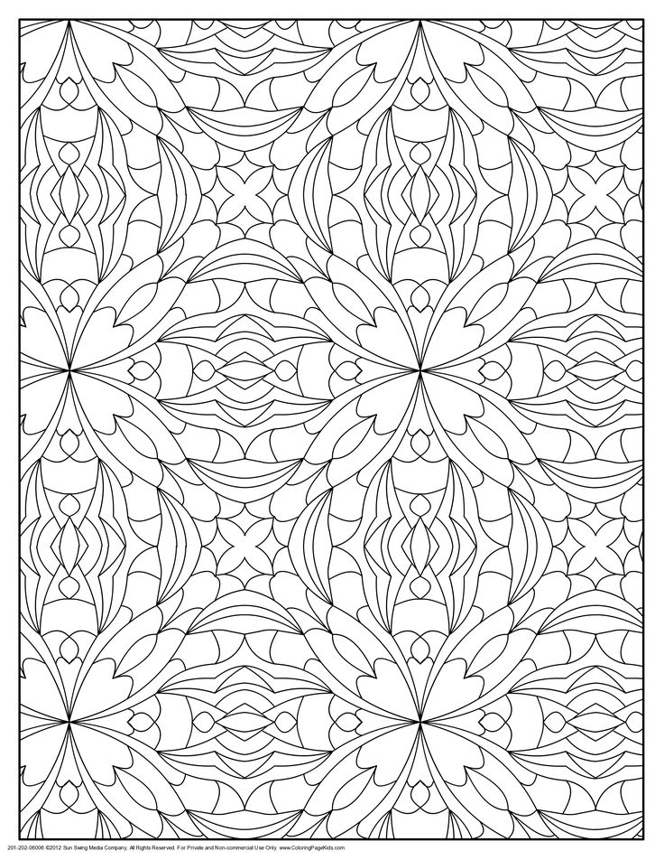 patterns and designs coloring pages - photo#9