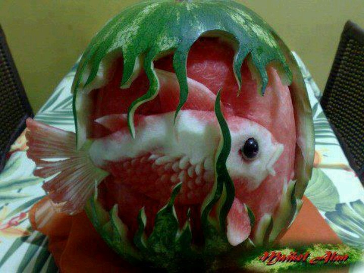 Cool watermelon carving food pinterest water mellon