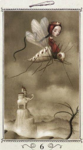 Księżyc, poezja i karty tarota: Karciany Pamiętnik #3 Sześć Buław