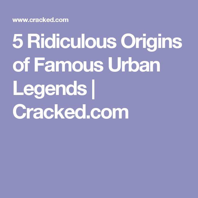 5 Ridiculous Origins of Famous Urban Legends | Cracked.com