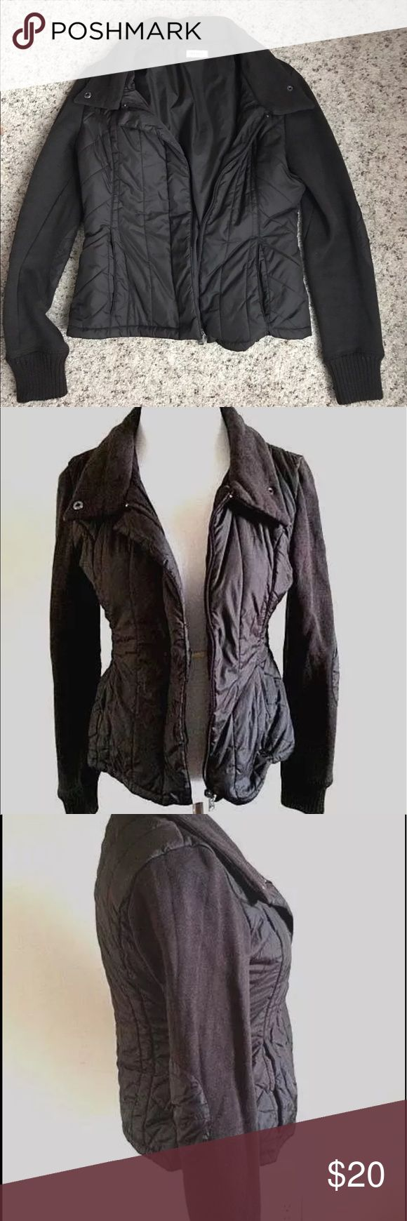 Quilted elbow patch jacket Excellent condition, nice casual zip up jacket. The color is brown like the last three images, the lighting in the first image makes it look black but it's a brown color. Max & Co. Jackets & Coats