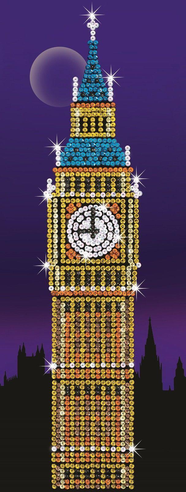 Strictly Sequin Art Big Ben Sparkling Craft Picture Kit