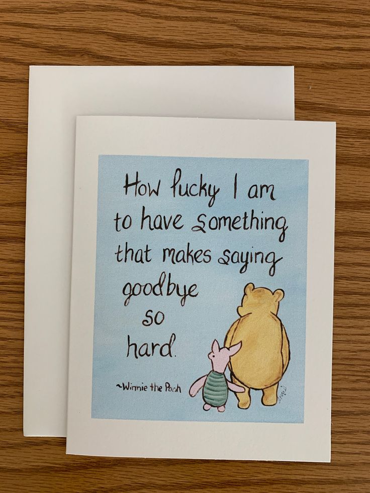 goodbye card winnie the pooh friendship quote classic