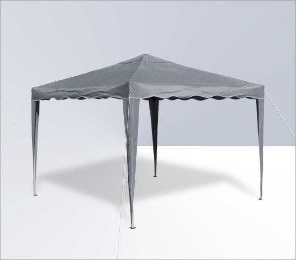 Alu/Metall Faltpavillon 3x3 Meter Grau