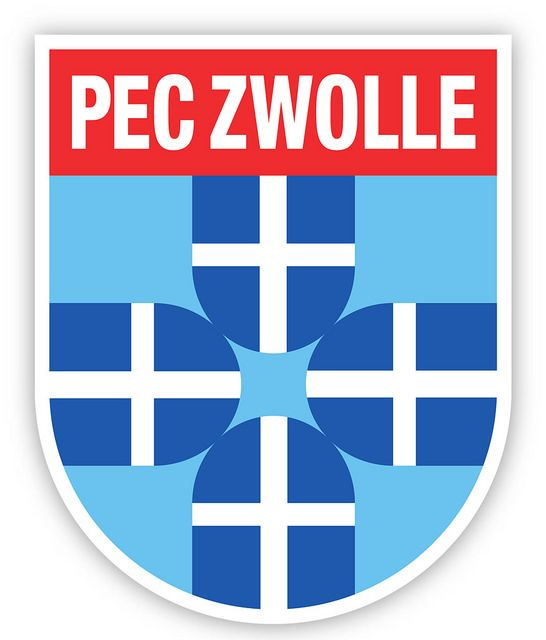 PEC Zwolle (Prins Hendrik Ende Desespereert Nimmer Combinatie Zwolle) | Country: Netherlands / Nederland. País: Países Bajos. | Founded/Fundado: 1910/06/12 | Badge/Crest/Logo/Escudo.