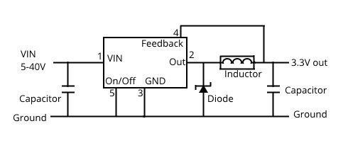 Efficient regulatored power supply - buck converter circuit