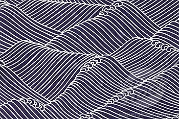 Japanese paper with wave pattern (full frame) (1598R-9985169 / sb10063634y-001 © Exactostock)