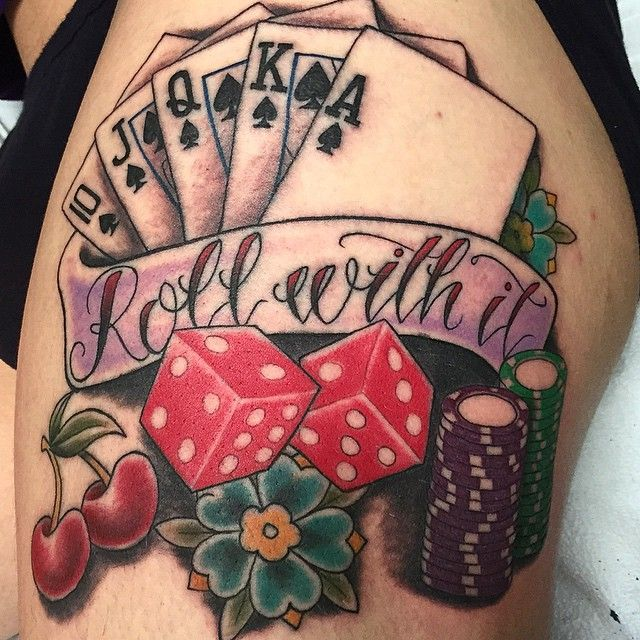 Poker color tattoo - going to convince my mom to get this:P