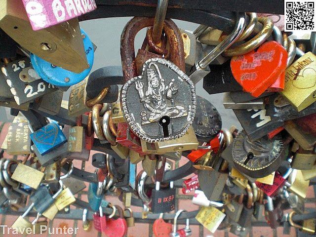 Love Bridge caught my Eye with Lord #shiva on one of the Locks