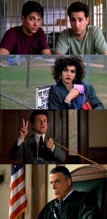 My Cousin Vinny - Joe Pesci, Marissa Tomei, Fred Gwynne - A comedy one would not want to miss.