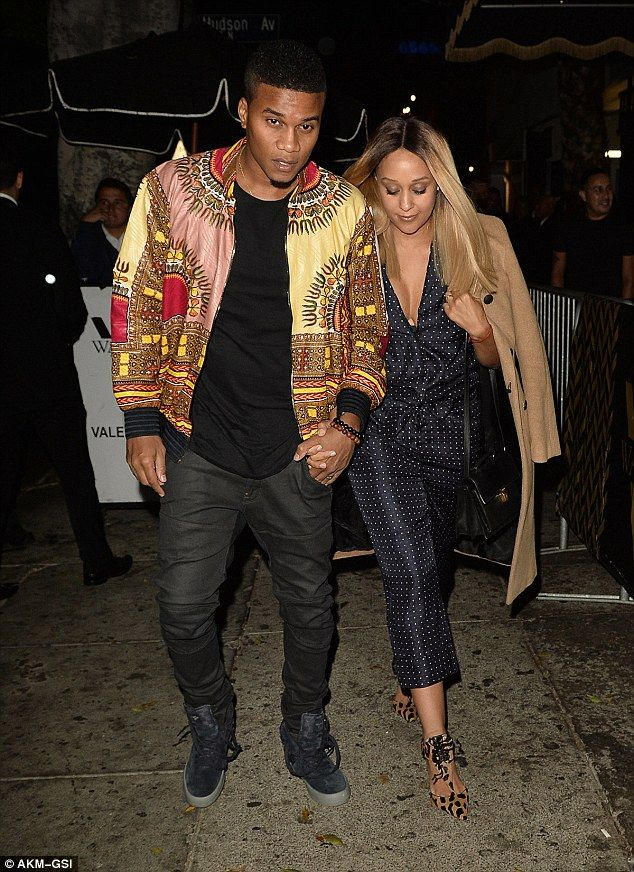 Date night:Making a stylish entrance to the birthday bash was Tia Mowry, who came with husband Cory Hardrict
