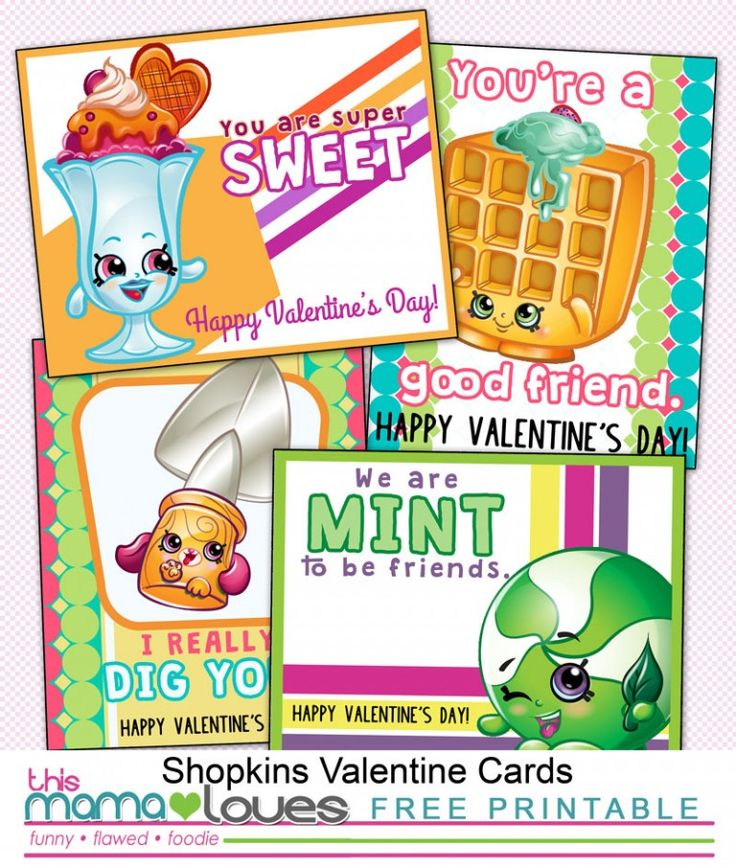 Shopkins Valentines Day Cards {Printable}