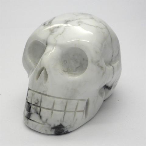 Skull   White Howlite   Hand Carved Gemstone   deeper spiritual meanings   Crystal Heart Melbourne Australia since 1986