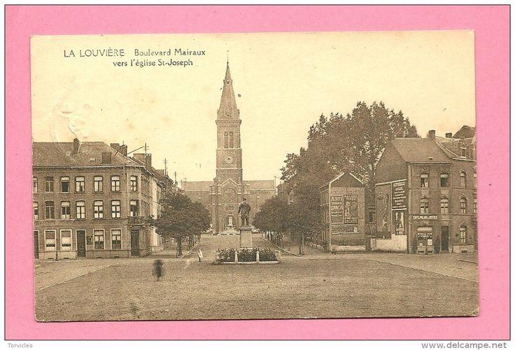 C.P.  La Louvière  : Boulevard  Mairaux  vers  l´ Eglise  St-Joseph