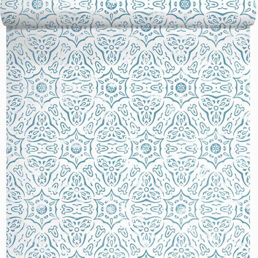 cheap leroy merlin papier peint intiss marrakech bleu with. Black Bedroom Furniture Sets. Home Design Ideas