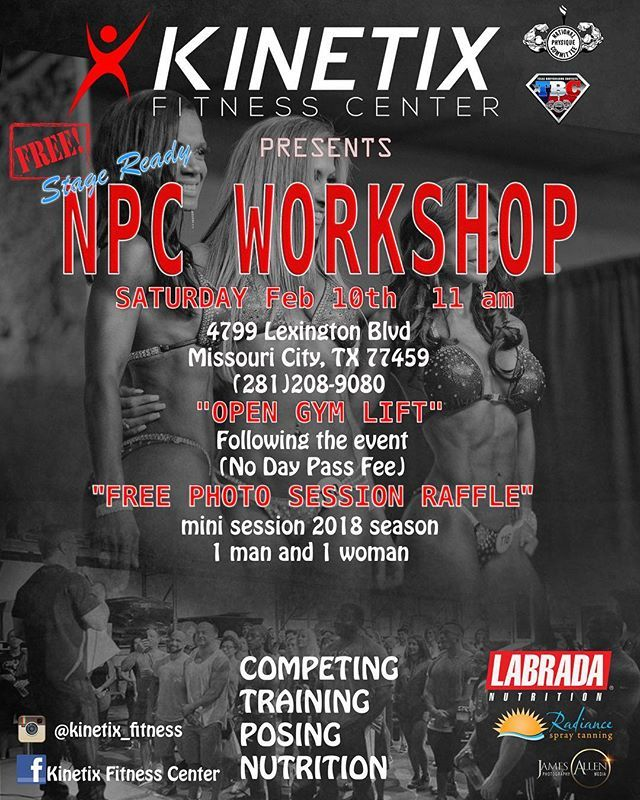 Come Out To The Npc Workshop At The Kinetix Fitness Center This Saturday Muscle Maker Will Have A Table At This Event Where Gym Partner Fitness Center Muscle
