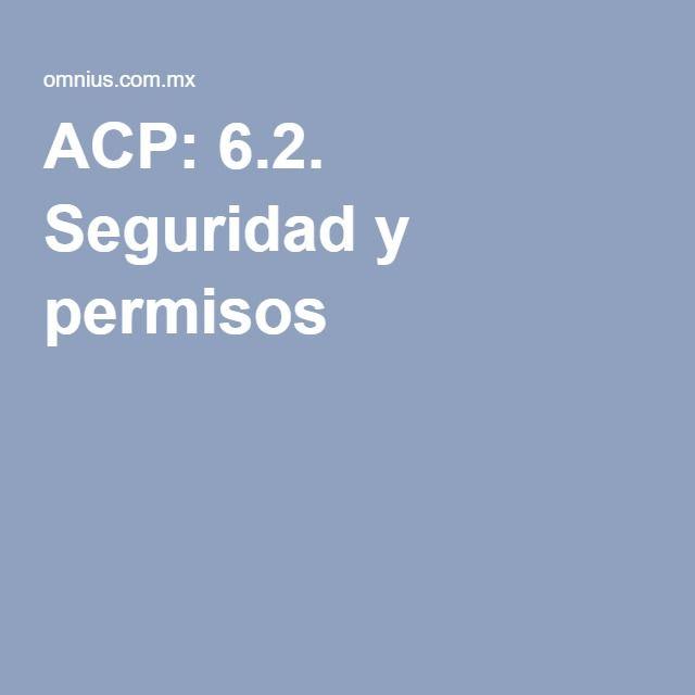 ACP: 6.2. Seguridad y permisos