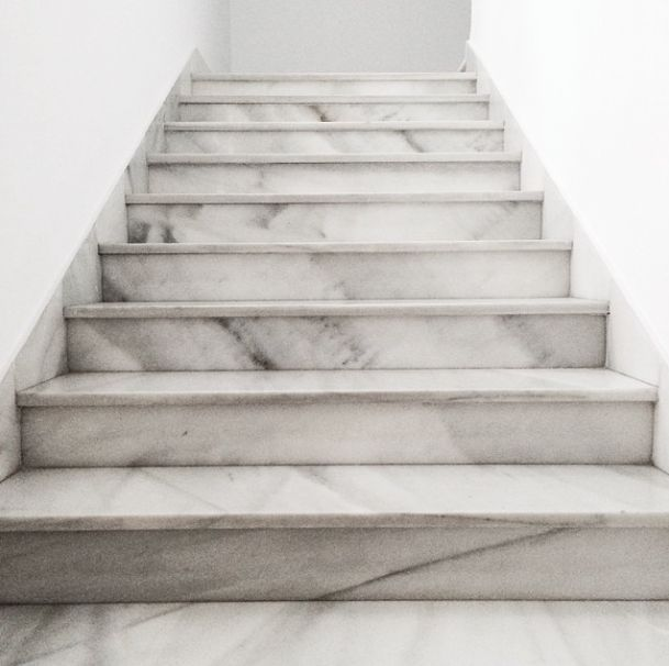 If I ever own a fancy mansion, expect these marble stairs, because WHY NOT.