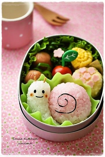Snail rice ball