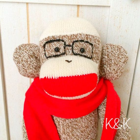 Hey, I found this really awesome Etsy listing at https://www.etsy.com/listing/214900350/sock-monkeylarge-boy-83-red-heel-socks