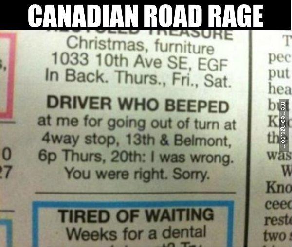 Canadian road rage