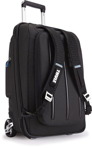 Thule Crossover Rolling Carry-On Suitcase and Backpack with Laptop Sleeve - 38 Liter - Black Thule Cargo Bags THTCRU-115BGD