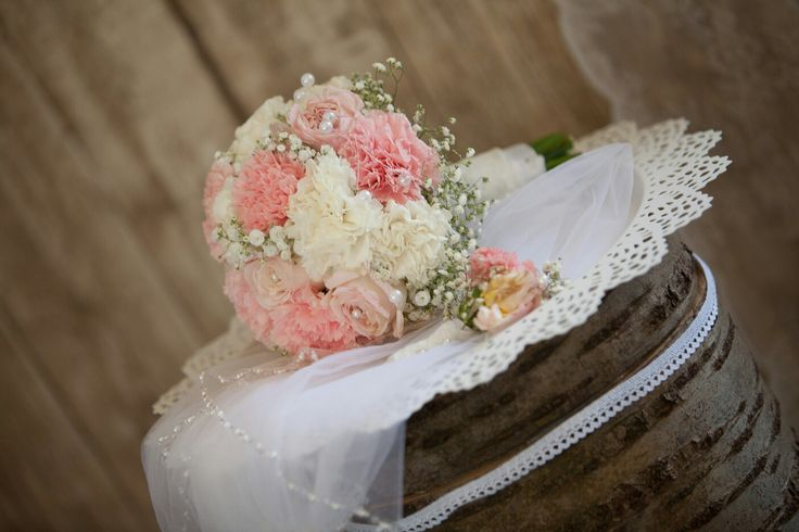 Brautstrauß  Nelken-Rosen-Schleierkraut