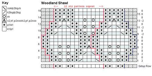 Woodland Shawl pattern by Nikol Lohr