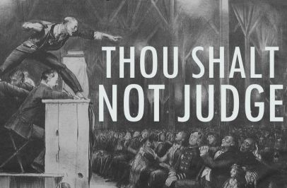 "Thou Shalt Not Judge! by Kyle Beshears- One of the most popular, perhaps most scathing, objections towards Christians today is that we're too ""judgy."" We hypocritically judge those outside of the church by flying in the face of Jesus' teaching that ""Thou shalt not judge."" (Yes, always quoted in the KJV language, for some reason…)"