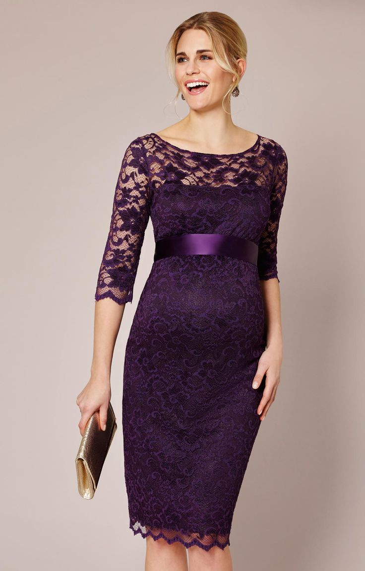 Rich, fruity and delicious in blackberry, best selling Amelia maternity dress is a stunning party dress that's so comfortable to wear.