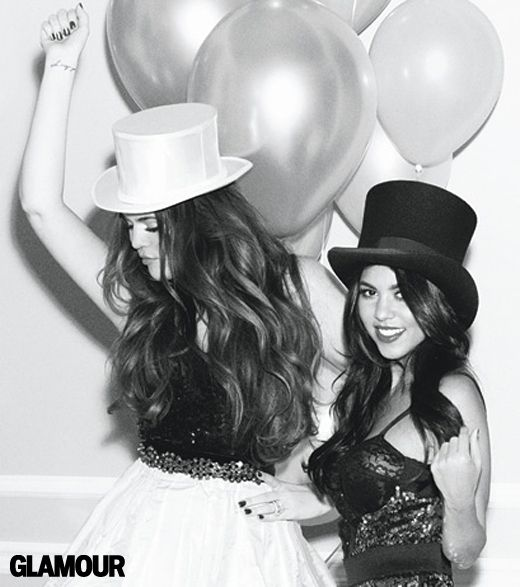 Kourtney Kardashian - New Year's Eve Photo Shoot for Glamour Magazine with My Sisters