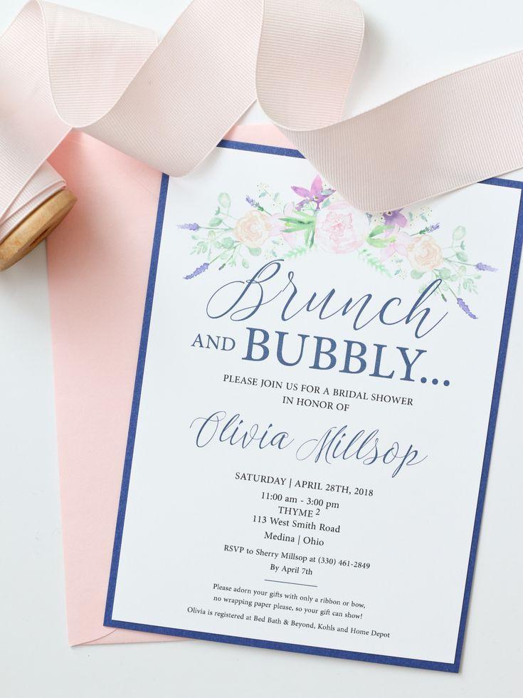 Brunch u0026 Bubbly Bridal Shower Invitations 43