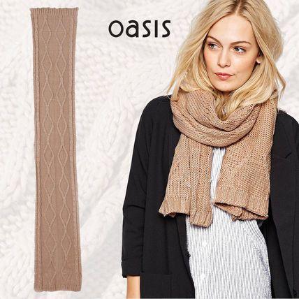 オアシス ケーブルニット スカーフ