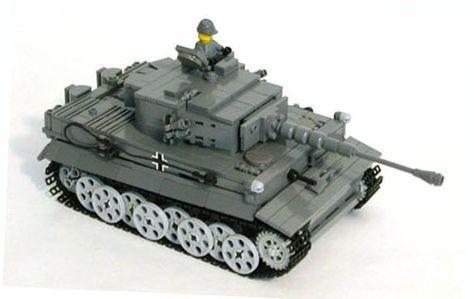 WW2 Tiger I LEGO Tank Model