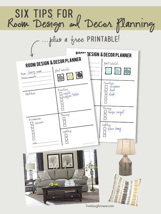 Six Tips For Room Design And Decor Planning With Livelaughrowe