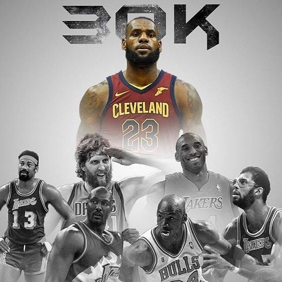 Tonight is the night that LeBron joins the exclusive 30000 point point club. #repre23nt